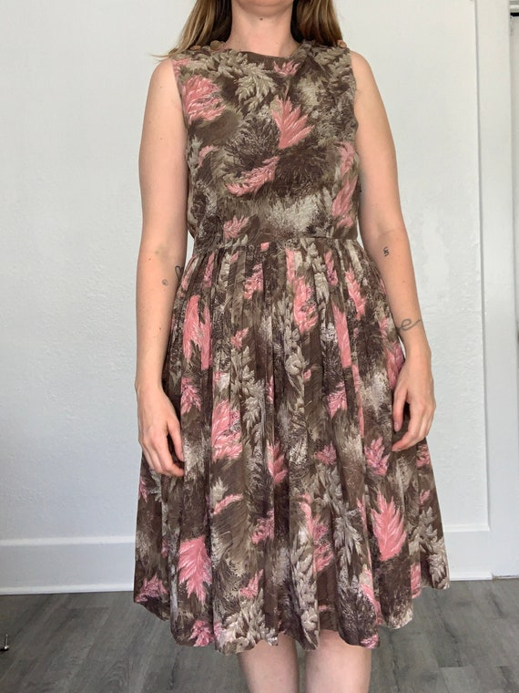 1950's autumnal cotton dress