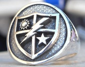US Army 75th Ranger Regiment Handmade 3D Ring Solid Sterling Silver 925