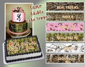 Awe Inspiring Camo Cake Topper Etsy Funny Birthday Cards Online Elaedamsfinfo