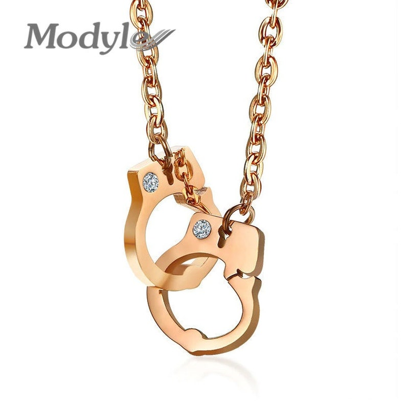 Handcuff Pendant Necklace  Fashion Jewelry Lover/'s Collares FREEDOM  FREE DELIVERY