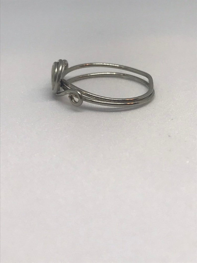 dainty ring simple ring women/'s ring minimalist ring silver ring US size 4.75 Copper wire ring silver rings for women