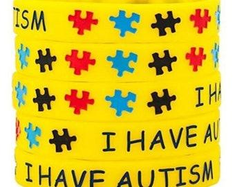 34d714ec79f2 Autism wristbands   Etsy
