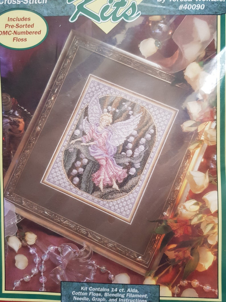 Berlinwork Bell Pull 1 flower counted cross stitch kit or chart 14s aida