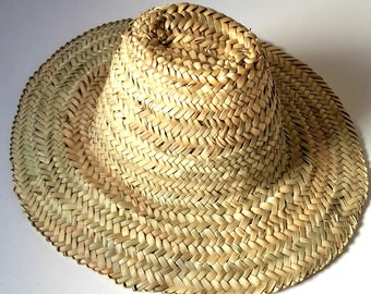 cbf1910a Moroccan Straw hats , Palm Leaf Garden Hat, Wicker Basket,Summer Hat,  French Baskets,Hand Woven Moroccan Sun Hat, Straw Basket, Beach Hat,