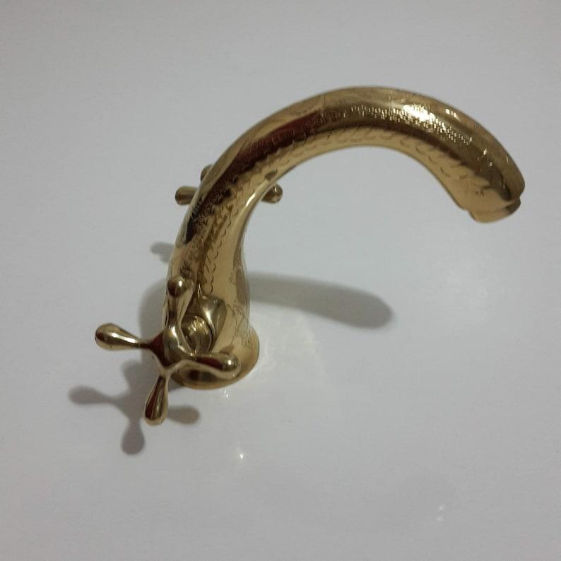 Bathroom Faucet,Hand Engraved Moroccan Brass Gold Colour  Faucet Tap,Kitchen Faucet