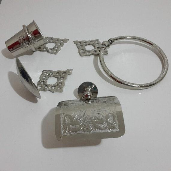 Moroccan Brass Bathroom Accessories, Moroccan Bathroom Accessories
