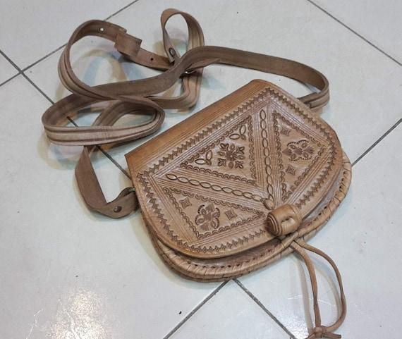 Camel Leather Bag,Moroccan Leather Bag,Vintage Lea