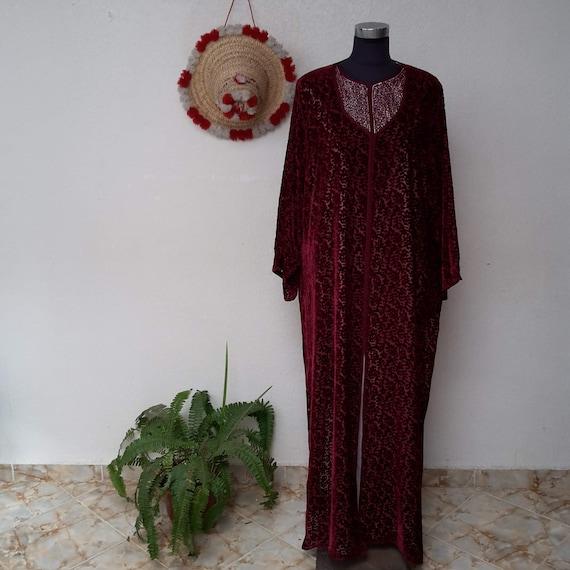 Moroccan Kaftan ,Embroidered  Moroccan Caftan Abay