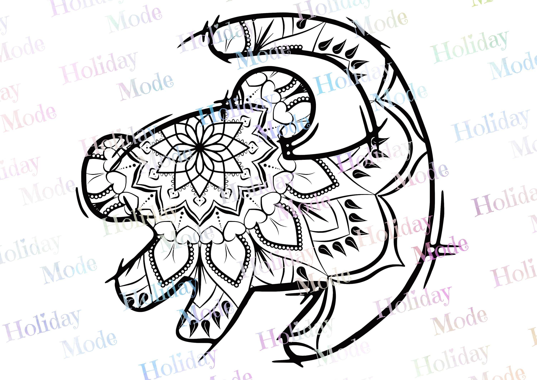 Download Disney The Lion King Simba mandala Disney SVG print your ...
