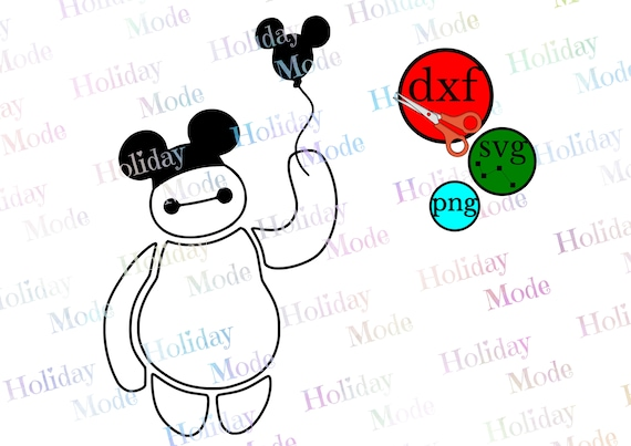 Disney Big Hero 6 Baymax Clipart With Disney Balloon Etsy