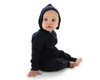 Navy blue cashmere hoodie