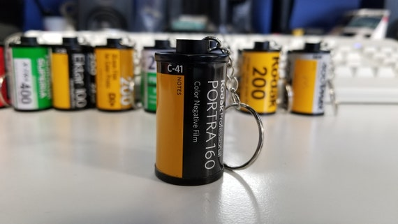 FUJICOLOR X-TRA 400 FUJI KEYCHAIN MADE FROM RECYCLED 35 MM FILM CANISTERS