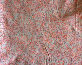 Pink/Orange Jersey Knit Fabric