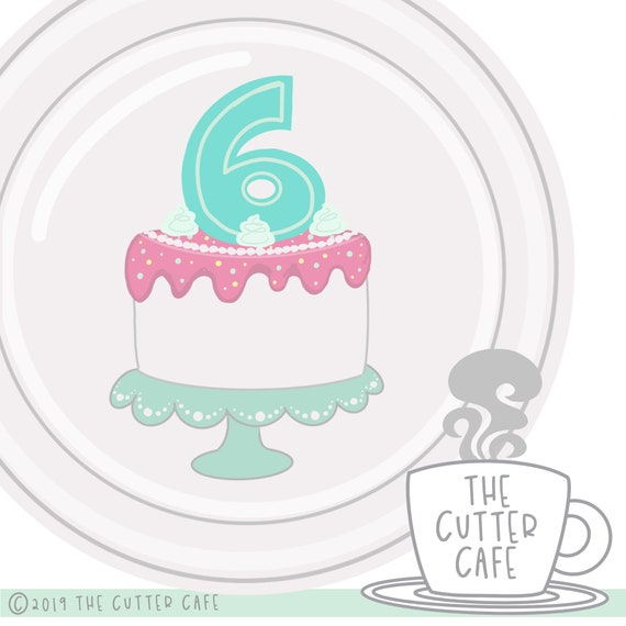 Superb Sixth Birthday Cake Cookie Cutter Etsy Funny Birthday Cards Online Hendilapandamsfinfo