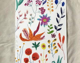 """Recycled Poster Mother's Day """"Flower Meadow"""", Art Print, PrintPoster """"Flower Meadow"""""""
