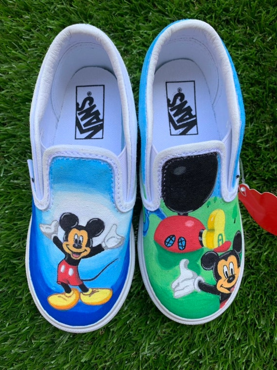 Custom Hand Painted Mickey Mouse Clubhouse Toddler Vans