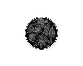 Dinoflagellate: Bubble-free stickers