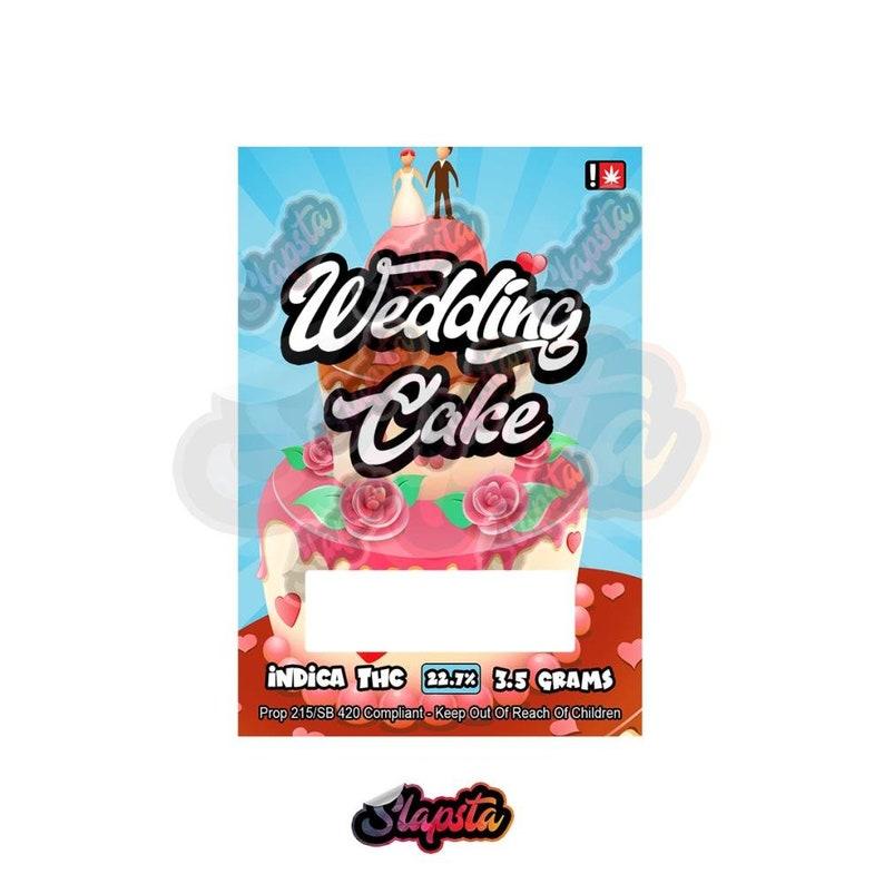 Wedding Cake Mylar Bag Labels