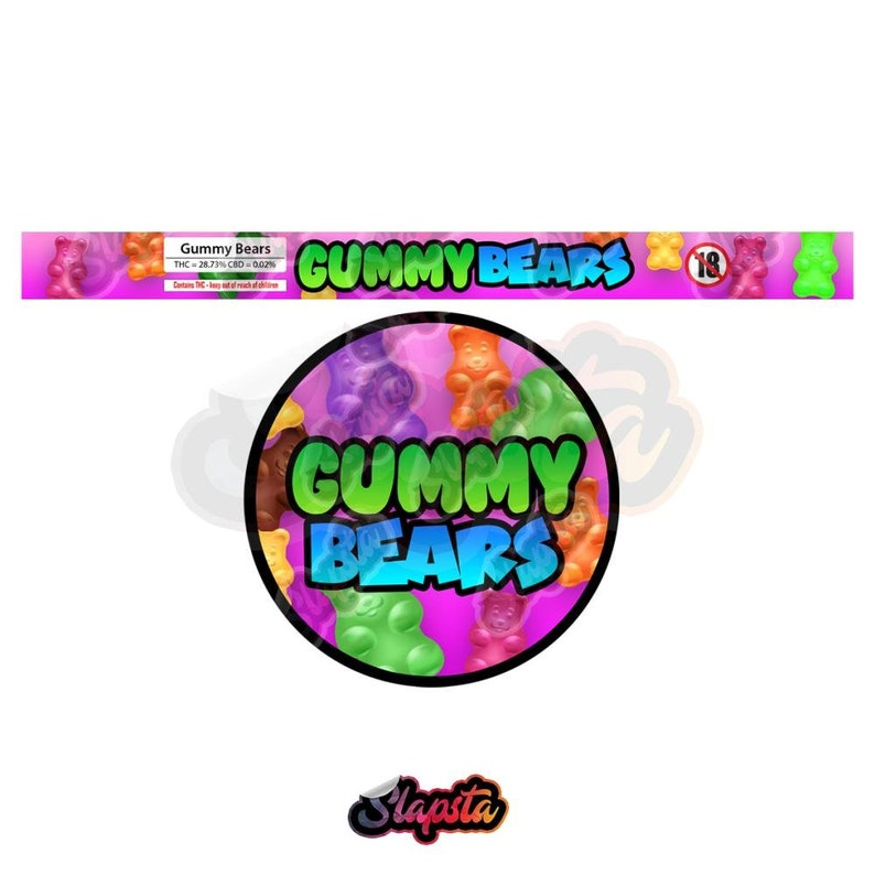 Gummy Bears Pressitin Strain Labels