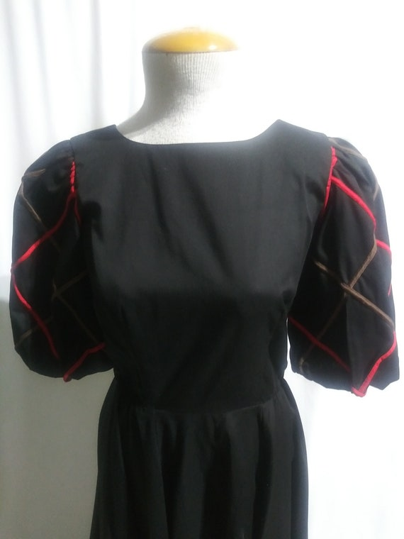 Vintage black square dance dress