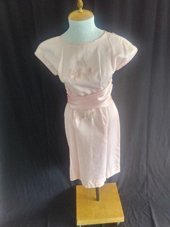Vintage pink tea party wedding dress