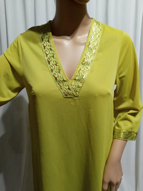 Vintage lime green pajama set