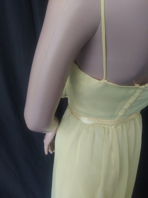 Vintage yellow dress with ruffles - image 6