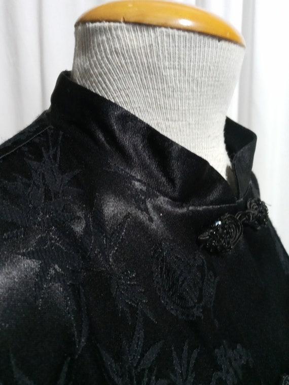 Vintage black asian inspired duster