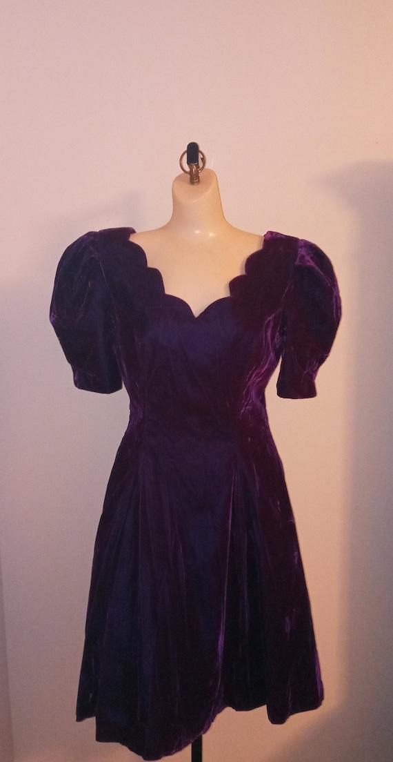 Vintage purple velvet dress