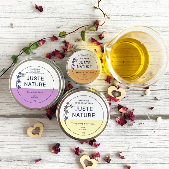 Mini Self-Care Gift Set For Her and Him- Natural and Organic handmade skincare