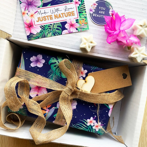 Handmade Love And Care Gift Set For Her- Beautifully handcrafted and gift wrapped, Eco Friendly Natural Skincare Gift Set for her
