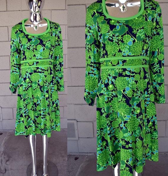 Keram New York 1970s Groovy Dress