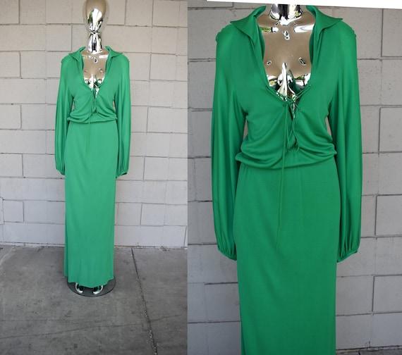 NWT 1970s Halston Studio 54 style  Gown