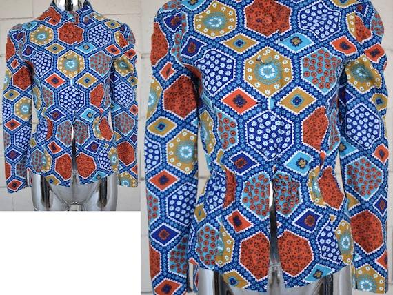 Rizkallah for Malcolm Starr patchwork wool challis