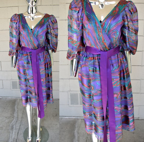 Diane Dickinson silk 1980s dress