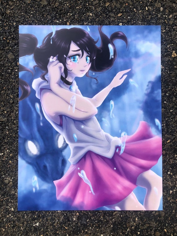 Weathering With You Art Print Your Name Fanart Sad Anime Etsy