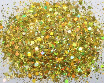 Red Orange Iridescent Transparent Fine Glitter Green gold Glitter Orange Green Color Shift Glitter SUN KISSED Gold Flake