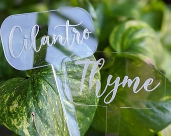 herb stake markers, garden stakes, herb labels, spring herb stakes, mint, rosemary, basil, stakes, plant labels, garden stakes