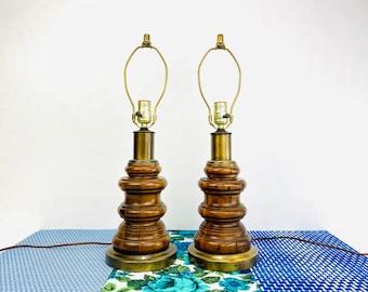 MCM Lamp   Mid Century Modern Lighting  Gold Accent Lamp  Hand Made Lamp  Smarti #306