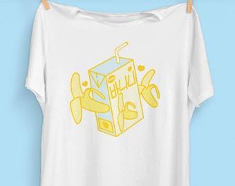 8b69a502 Banana Milk Box T-Shirt | Korean Fashion | Kawaii Aesthetic Clothing |  Fairy Kei | Harajuku
