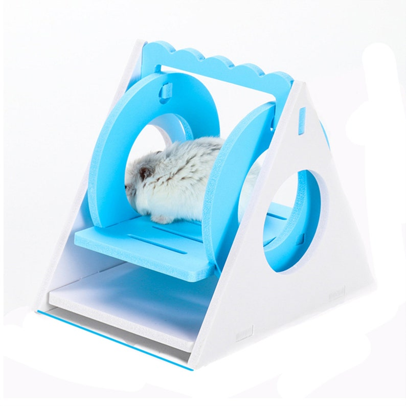 Ecological Wood Cartoon Chinchillas Small Pet Gift Fitness Home Waterproof Hedgehog Hamster Toy