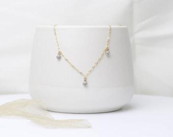 Swarovski Necklace | Gold Filled | Gift for her | Swarovski Crystal Necklace | Gold Filled Necklace | Dangle Charm Necklace | Handmade