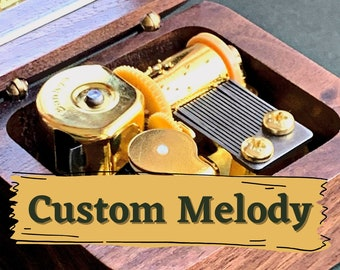 Custom Melody Music Box / Personalized Music Box with a Custom Metal Melody Mechanism / Convert your Song to Music Box