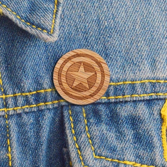 Wooden Pin Captain Lapel Pin
