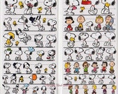 Japan Snoopy 4 size Sticker Sheet - 1 sheet Made in Japan