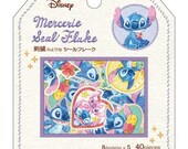 Disney Stitch Golden Pressed Embroidery Like 40pcs Die Cut France Mercerie Seal Sticker pk - 1 pk Made in Japan