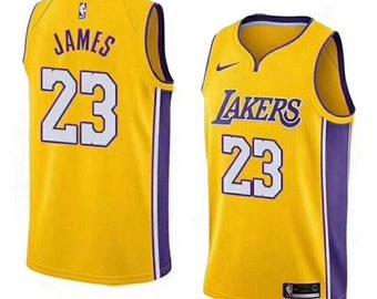 2506e9e3fb27 Stitch LeBron James L.A Los Angeles Lakers #23 Swingman Basketball Jersey  Stitch 19-20 Men's & Youth Many Color