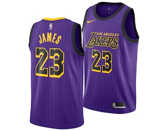 50bfc0129c224 Stitch LeBron James L.A Los Angeles Lakers #23 Basketball Jersey 19-20  Men's & Youth Many Color
