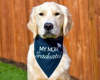 Personalized Seniors 2021 Graduation Dog Bandana with Name Custom Unique Pet Dog Bandana Cotton Gold Dog Collar for Sister Graduate