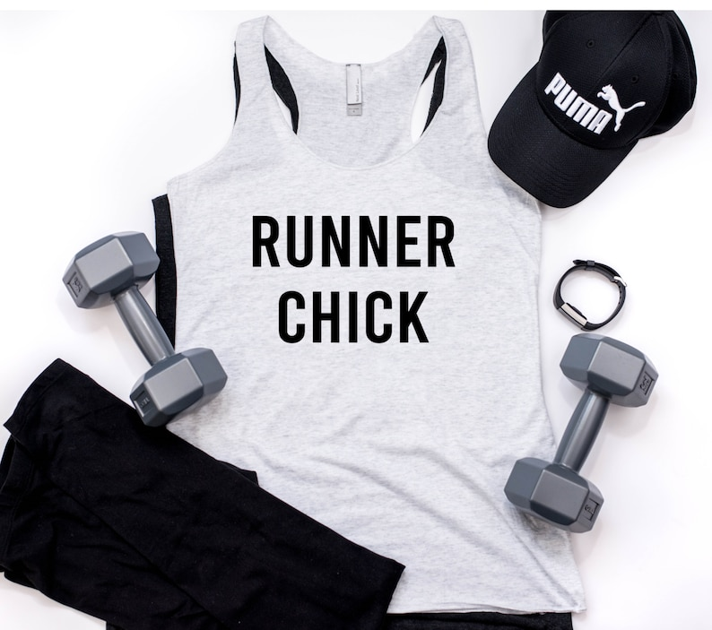 Runner Chick Racerback Gym Tank Fitness Tank Funny Gym Tank Women/'s Workout Tank Workout Tank